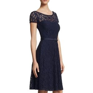 White House Black Market Fit and Flair Lace Dress